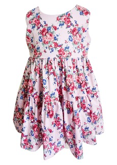 Popatu Floral Print Tiered Dress (Baby)