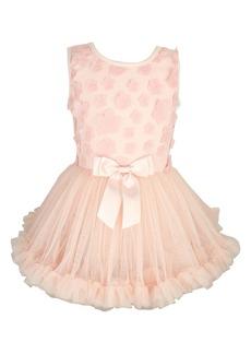Popatu Flower Appliqué Tutu Dress (Baby)