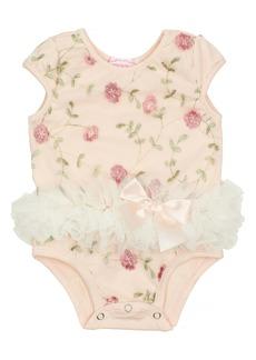 Popatu Flower Embroidered Tutu Bodysuit (Baby)