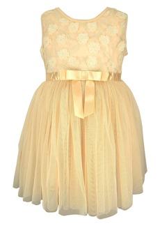 Popatu Flower Ribbon Tulle Dress (Baby Girls)