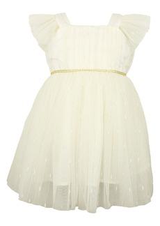 Popatu Flutter Sleeve Tulle Dress (Baby)