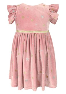 Popatu Kids' Panne Star Dress (Toddler, Little Girl & Big Girl)