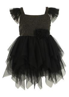 Popatu Kids' Shimmer Bodice Tulle Dress (Toddler, Little Girl & Big Girl)