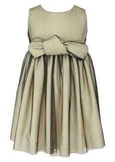 Popatu Kids' Shimmer Bow Dress (Toddler, Little Girl & Big Girl)