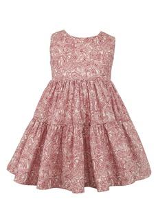 Popatu Kids' Sleeveless Tiered Prairie Dress (Toddler, Little Girl & Big Girl)