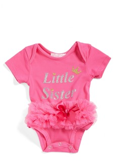 Popatu Little Sister Skirted Bodysuit (Baby Girls)