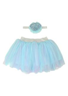 Popatu Mermaid Tutu Skirt & Headband Set (Baby Girls)