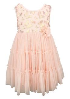 Popatu Metallic Butterfly Tulle Dress (Baby)