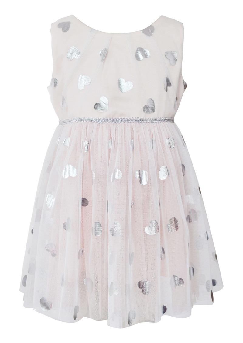 Popatu Metallic Heart Tulle Dress (Toddler Girls, Little Girls & Big Girls)
