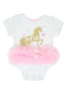 Popatu One Unicorn Tutu Bodysuit (Baby)