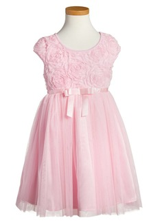 Popatu Ribbon Rosette Tulle Dress (Little Girl & Big Girl)
