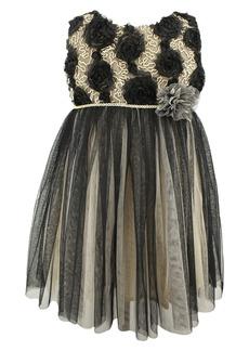 Popatu Rosette Tulle Dress (Toddler Girls, Little Girls & Big Girls)