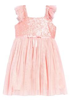 Popatu Sequin Bodice Tulle Dress (Toddler Girl, Little Girl, & Big Girl)