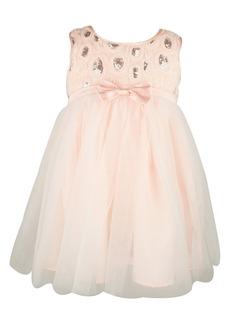 Popatu Sequin Tulle Dress (Toddler Girls, Little Girls & Big Girls)