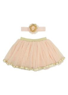 Popatu Tutu Skirt & Headband Set (Baby Girls)
