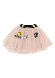 Popatu Varsity Patches Tulle Skirt (Toddler Girls & Little Girls)
