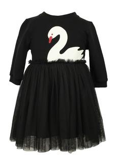 Popatu White Swan Tulle Dress (Baby)