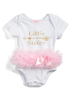 Popatur Little Sister Skirted Bodysuit (Baby Girls)