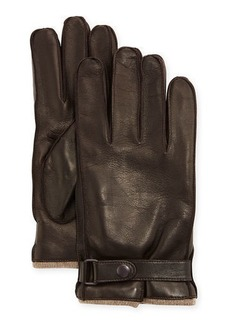 Portolano Cashmere-Lined Napa Glove w/Belted Snap
