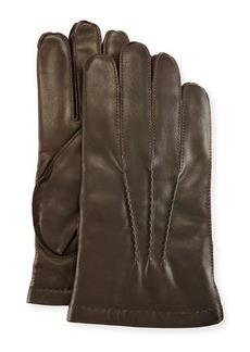 Portolano 3-Point Napa Leather Gloves w/Cashmere Lining