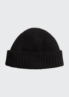 Portolano Men's Rib-Knit Cashmere Beanie Hat