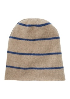 Portolano Slouchy Striped Cashmere Hat