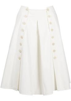 Ports 1961 A-line pleated midi skirt