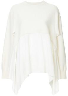 Ports 1961 asymmetric layered sweater