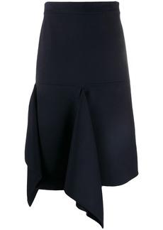 Ports 1961 asymmetric midi skirt