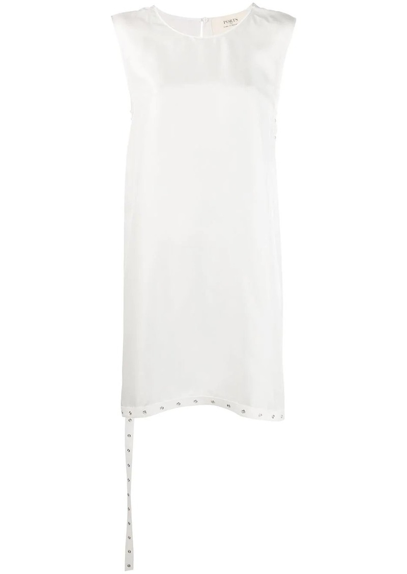 Ports 1961 asymmetric sleeveless blouse