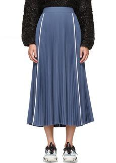Ports 1961 Blue Pleated Skirt