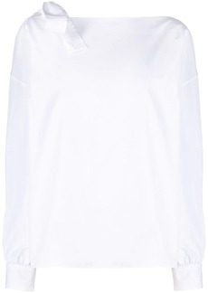 Ports 1961 boat neck shirt with shoulder-bow detail