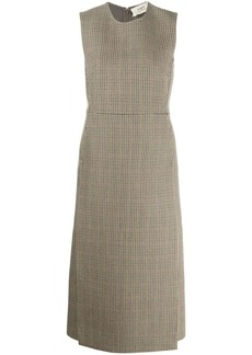Ports 1961 check sleeveless midi dress
