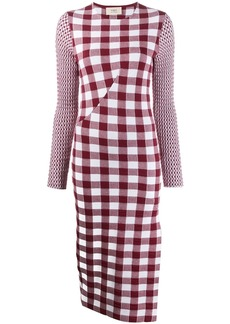 Ports 1961 checked knit dress