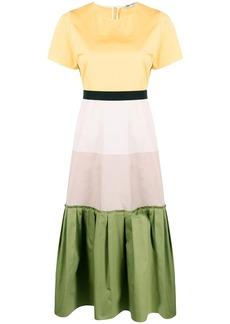Ports 1961 colour blocking flared dress