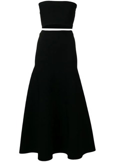 Ports 1961 cropped bandeau top and skirt co-ord