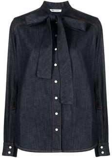 Ports 1961 dark-wash denim shirt