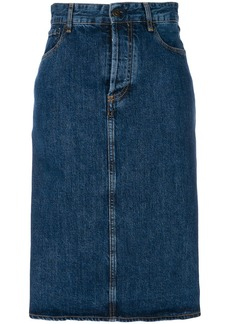 Ports 1961 denim midi skirt