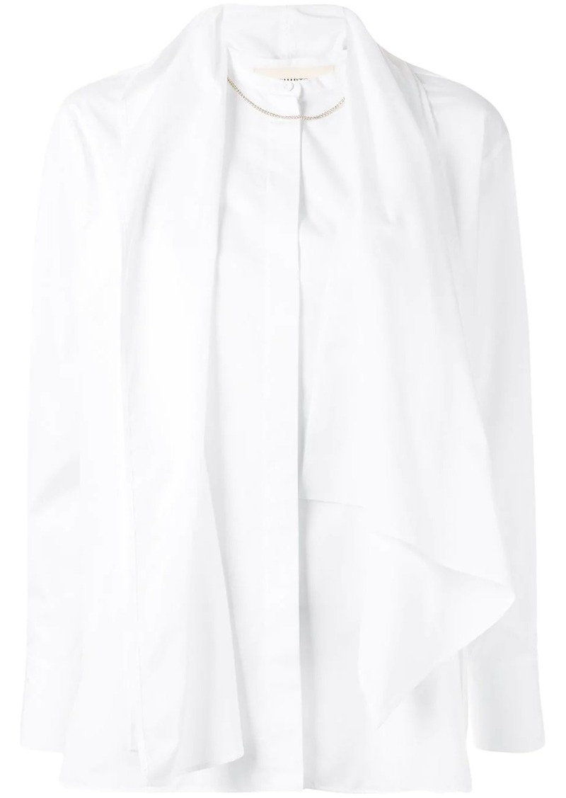 Ports 1961 draped detail shirt