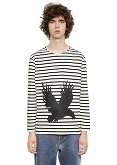 Ports 1961 Eagle Print Light Jersey Sweatshirt