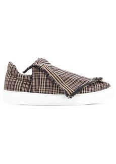 Ports 1961 foldover plaid slip-on sneakers