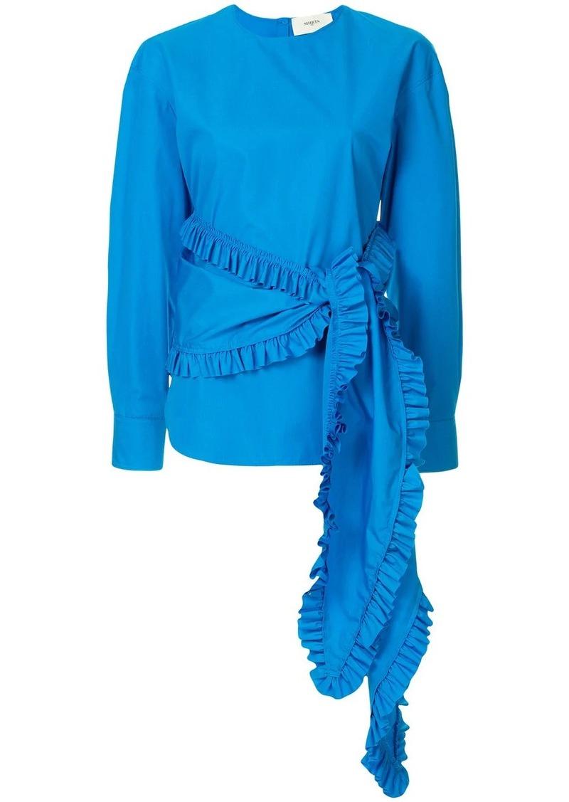 Ports 1961 waist-tied ruffle blouse
