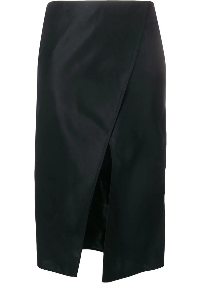 Ports 1961 front-slit midi skirt