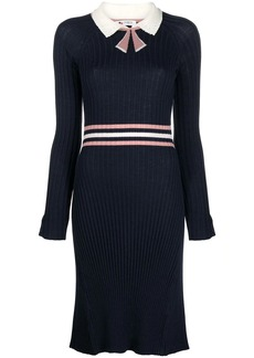 Ports 1961 Fully Fashioned ribbed-knit wool dress