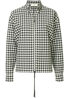 Ports 1961 gingham print zipped shirt