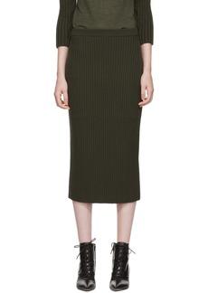 Ports 1961 Khaki Knitted Skirt