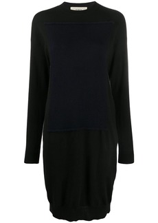 Ports 1961 knitted two tone dress