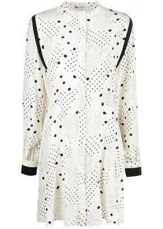 Ports 1961 long-sleeve polka dot dress