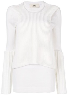 Ports 1961 long sleeve rib detail jumper