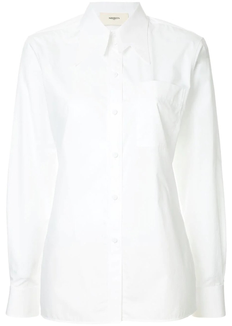 Ports 1961 M shaped collar shirt